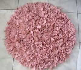 reserved for crochet shag rag rug pink shag