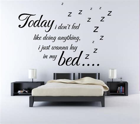 wall sayings for bedroom best wall sticker quotes for bedrooms small room