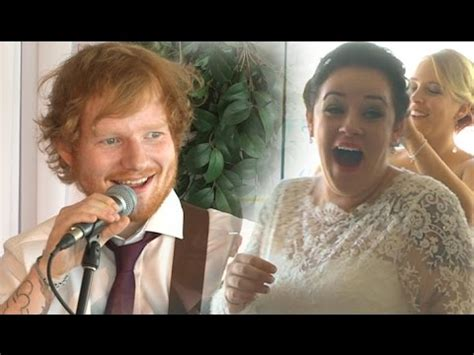 ed sheeran wedding song ed sheeran surprises deserving wedding couple youtube
