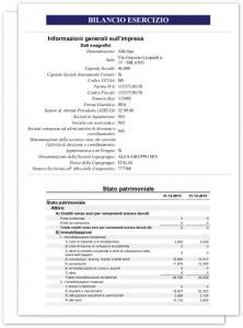 deposito bilancio di commercio bilancio xbrl 2018 esempio redazione analisi tassonomia pci