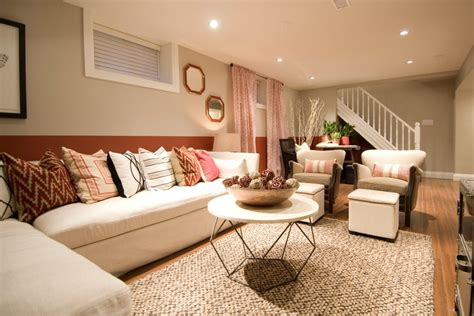 decorate a family room get the look basement family room scott s reno to reveal
