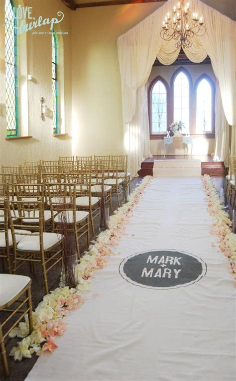 wedding aisle runner non slip 40ft ivory wedding aisle runner with custom monogram