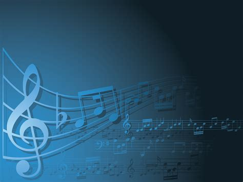 Blue And White Music Backgrounds Music Templates Free Ppt Grounds And Powerpoint Musical Powerpoint Templates