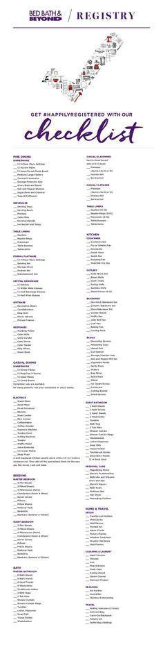 411 Best Wedding Registry Checklist images   Martha