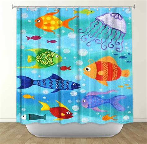bathroom ornaments fish happy fish tropical fish painting 16x20 whimsical fish