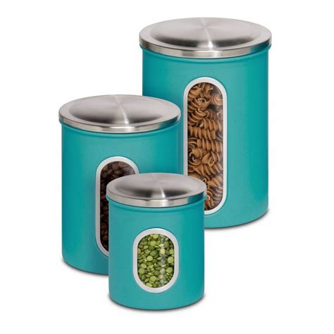 Green Kitchen Canisters by Teal Color Kitchen Accessories Feel The Home