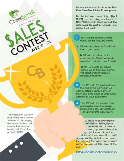 Sales Flyer Viziblee Different Design Sales Competition Template