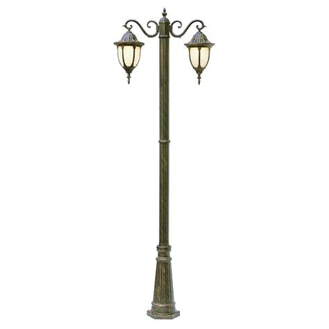 Outdoor Light Poles Bel Air Lighting Cabernet Collection 2 Light 93 In Outdoor Rust Pole Lantern With White Opal