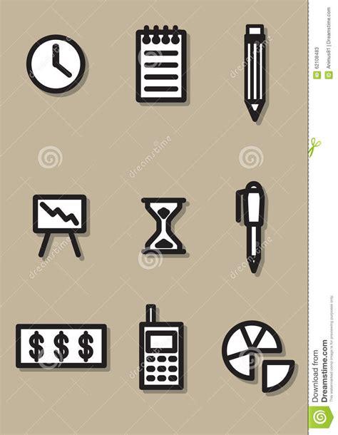 dell ufficio icona dell ufficio illustrazione vettoriale illustrazione