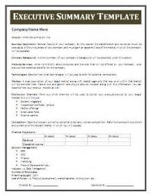 Executive Summary Business Plan Template 1000 Ideas About Executive Summary On Pinterest