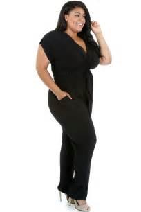 Spandex Sashes Blue Black Plus Size Xxl Belted Jumpsuit Rompers Short Sleeve Women Long Pants Ebay