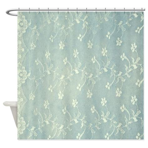 Teal Shower Curtains Teal Lace Shower Curtain By Admin Cp26591299