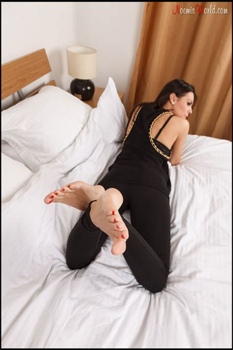 On The Bed by Noemisworld Olympia Beautiful Barefoot On