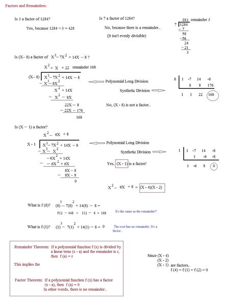 The Remainder Theorem Worksheet by Uncategorized Remainder Theorem Worksheet
