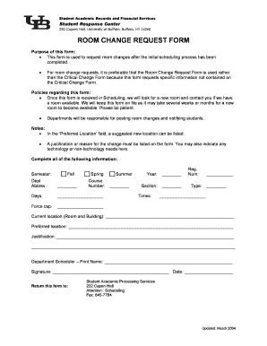 room change request room change request form fill printable fillable blank pdffiller