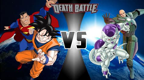 imagenes de zanello up 100 goku and superman vs frieza and lex luthor death battle