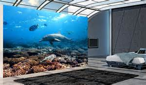 Dolphin Wall Murals Dolphins Underwater Wall Mural And Removable Sticker