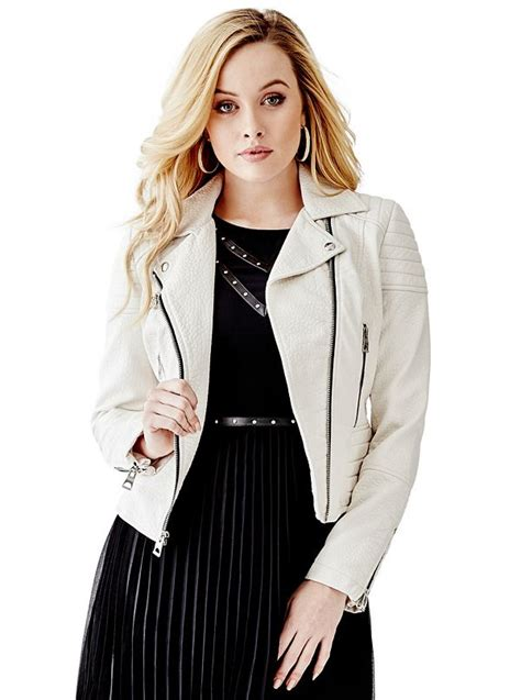 Bubbly Guess faux leather moto jacket guess