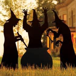 Witches For Halloween Decorations Martha Stewart Living Three Witches Silhouette