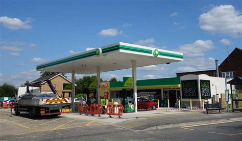 petrol stations open lightwater s bp petrol station and m s simply food store