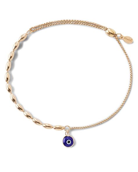 alex and ani precious metals evil eye fancy bead pull