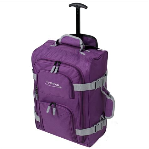 cabin luggage bags ryanair cabin wheeled travel luggage trolley holdall