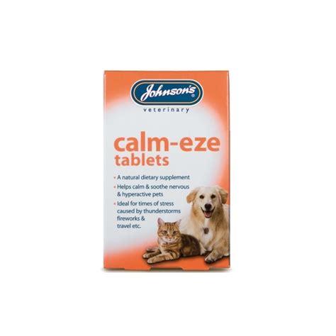 calming medicine for dogs johnsons calm eze calming tablets www petwarehouseni co uk