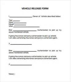 vehicle release form template release form template 10 free pdf documents