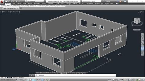 3d house plan with the implementation of 3d max modern 3d house model part 2 autocad basic 2d 3d bangla