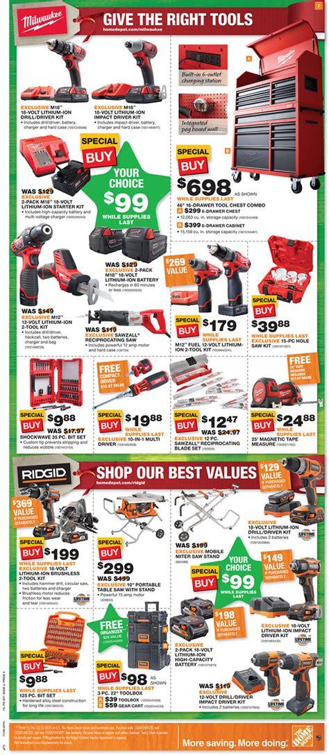home depot black friday  tool deals