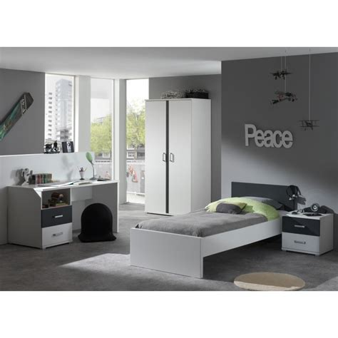 chambre ado et gris meuble bureau ado gris et blanc moderne pour chambre enfant