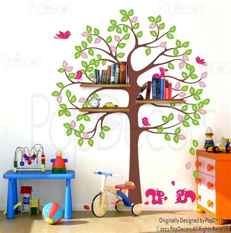 shelving tree decal shelving tree decal for baby nursery ideas and playroom