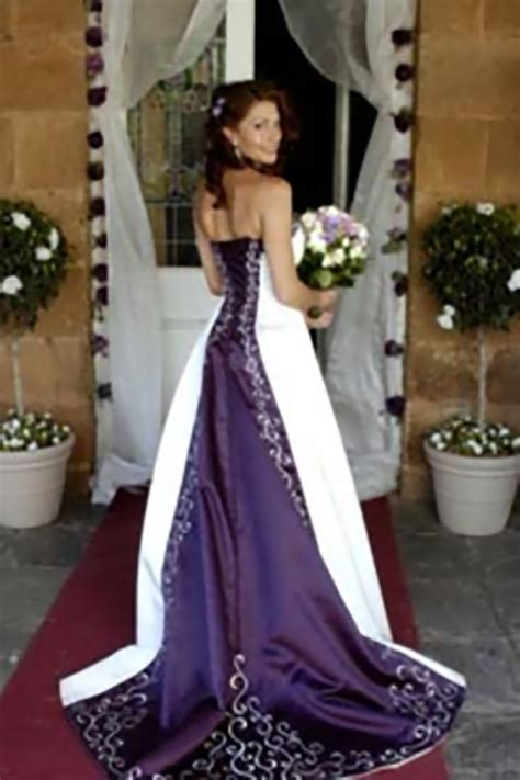 Purple Wedding Dress by Purple And White Wedding Dresses Wedding Dresses 2013