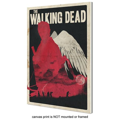 Poster The Walking Dead 10 Fja41 Kayu Vintage Asli Dinding Rumah Kafe the walking dead inspired retro posters poster 2 sizes