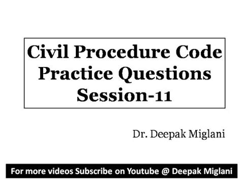 code of civil procedure section 664 6 civil procedure code practice questions session 11 by dr