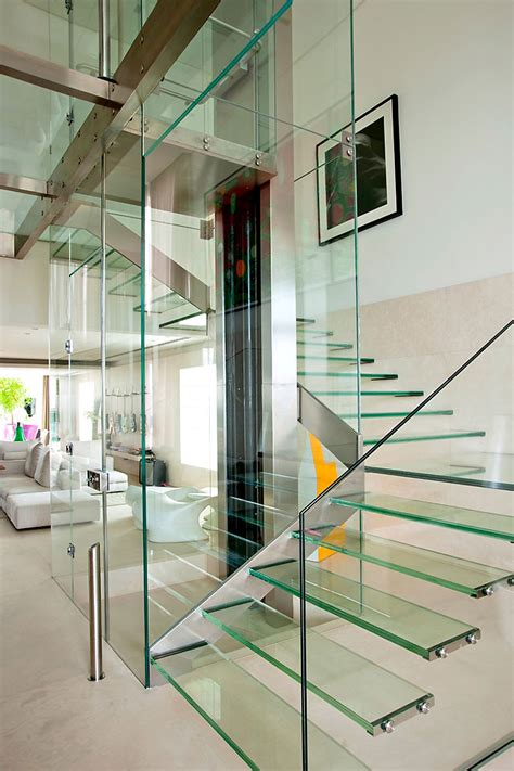 Glass Stairs Design Duplex Apartment In Malibu With Glass Swimming Pool Idesignarch Interior Design
