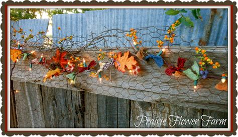 prairie flower farm a winner and autumn lights garland