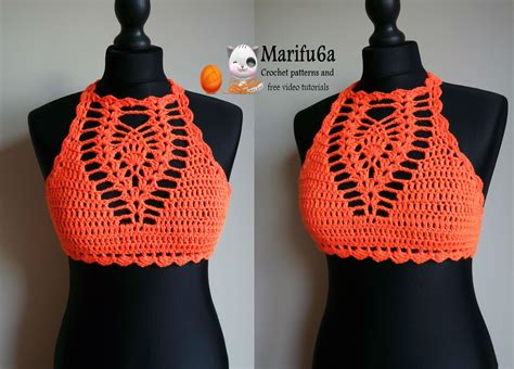 Pattern Top how to crochet easy halter top all sizes pattern by