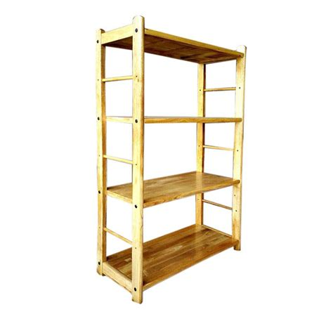 Lemari Kayu Ramin jual qq furniture rak kayu serbaguna 4 susun harga kualitas terjamin blibli