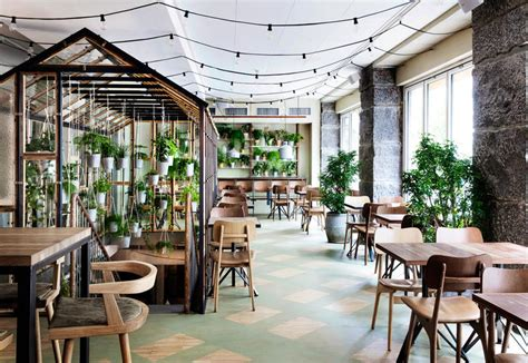 Shabby Chic Kitchen Designs by Indoor Plants In The Furniture Of A Restaurant Elle