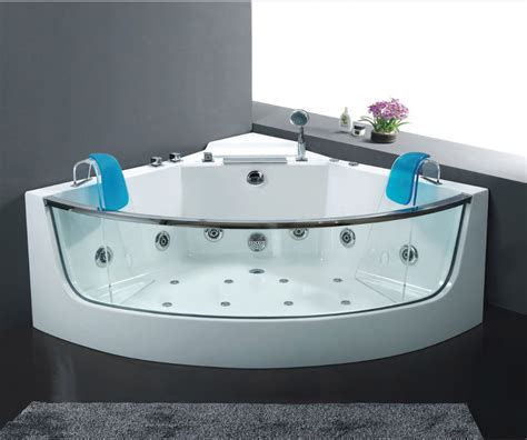jaccuzi bathtub 54 4 quot x 54 4 quot glass freestanding bathtub with jacuzzi