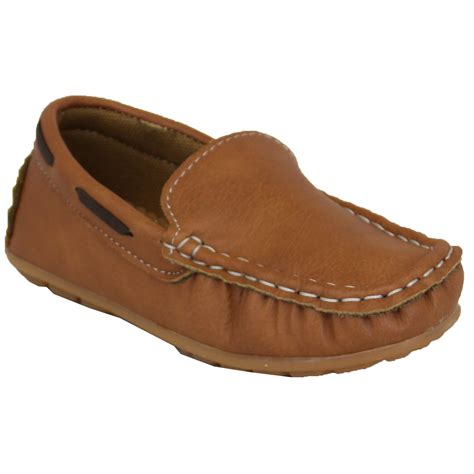 boys leather loafers boys moccasins leather look shoes driving loafers