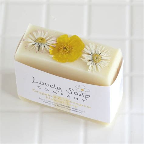 Handmade Herbal Soaps - grapefruit lemongrass handmade soap by lovely
