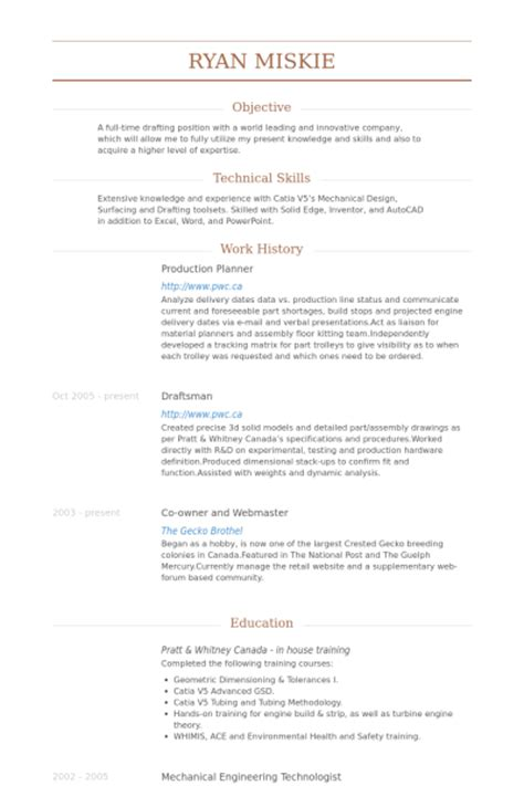 Industrial Maintenance Resume Examples by Production Planner Resume Samples Visualcv Resume