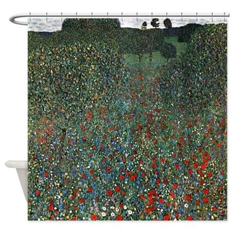 klimt shower curtain gustav klimt poppy field shower curtain by iloveyou1