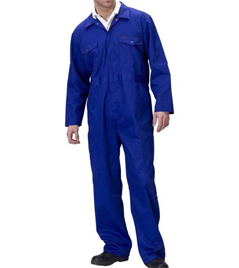 Overall Blue royal blue poly cotton standard mechanics overalls
