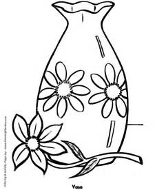free flower vase template coloring pages