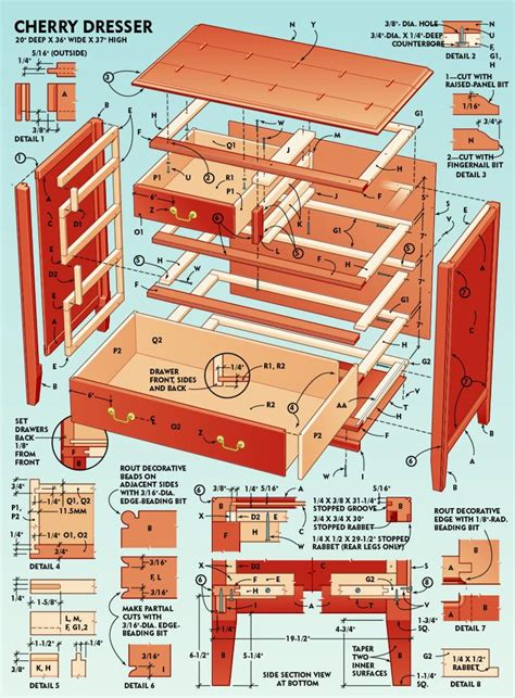 cherry chest of drawers plans how to build a classic 5 drawer cherry dresser dresser