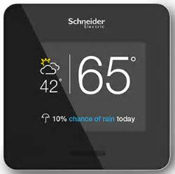 Builders Lighting Schneider Electric Puts Wiser Air Wi Fi Thermostat At