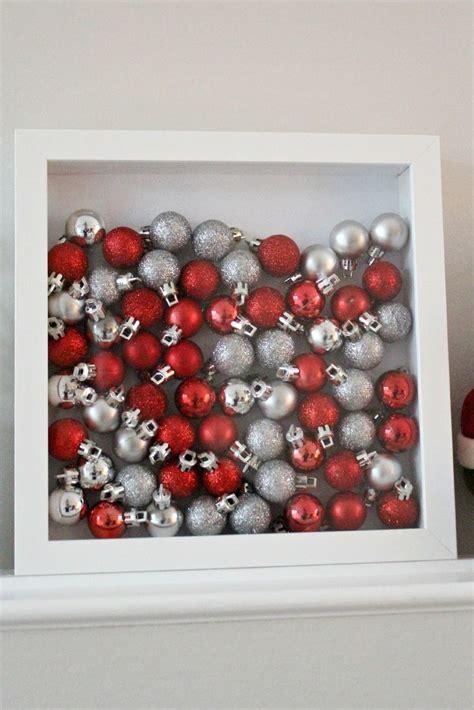 ikea shadowbox ornaments instant christmas decor